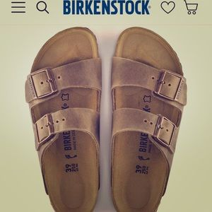 Gently worn Arizona Birkenstock sandal size 40